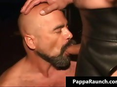Sensual filthy kinky gay fellow gets tied part6
