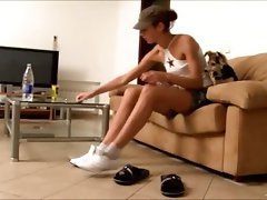 Shy Natasha teenager from europe in my house