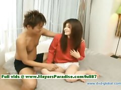 Yuzuru innocent superb sensual japanese young woman gets vagina fingered and caressed by her loverboy