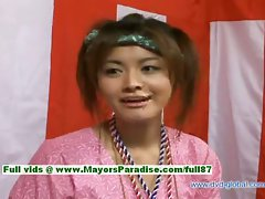 Yuzuru Seductive japanese innocent asian loveliness is talking about sex