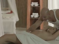 light-haired young lady Carla fucked on the table