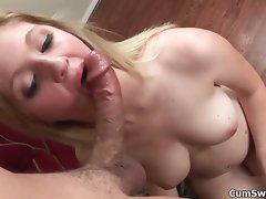 Filthy light-haired nympho gets raunchy stroking part6