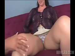 Close-up with lezzy Cute bbw having oral sex