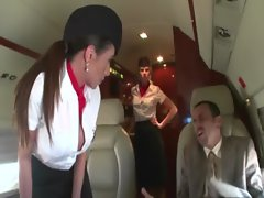 The private jet hostesses will not stand for that