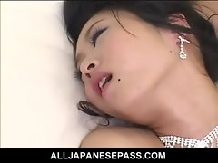 Kinky Sensual japanese bride is the gift of both her husband and his groomsmen