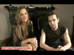 Filthy Brand Tranny Shaft Diva Punishes a Fellow