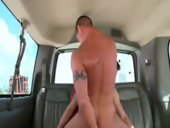 Gay pecker riding in the bus with filthy dudes