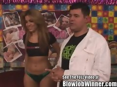 Bony Latina Isis Taylor Blowing Happy Winner Billy
