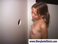 Sensual younger glory hole