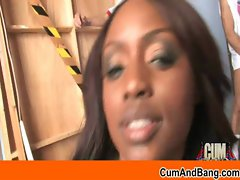 CumAndBang.com - Filthy ebony caresses white penises 15