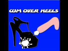 cum over heels - Cum on my wife&acute_s friend sandal