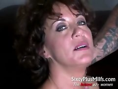 Randy natural experienced married woman spooned