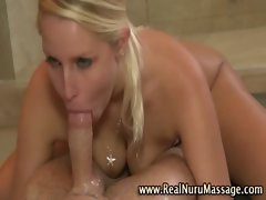 Fetish blondie attractive vixen gets a cumshot