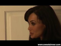 Lisa Ann Caresses and Bangs her Step Son