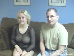 Amazing Amateur Home Videos Ava Monroe, Amateur Enormous melons Blond One
