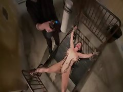 Tied up fetish whore punished
