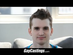 GayCastings Flexible Cheerleader spreads his hole for the camera