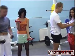 Crazy Hoes Amalia, Dark haired Double Penetration European