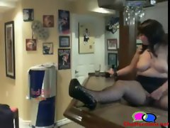Vixen Has her Man Dog on Choker Chain - Chattercams.net