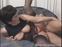 Filthy sensual dark haired female gets dripping