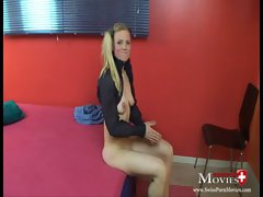 Masturbation Pornmovie with blond Lara 25y