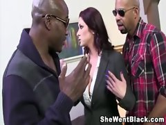 Big Tit Cougar Tiffany Mynx gets 2 Black Dicks stuffed in her Snatch
