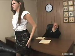 Filthy secretary Lassie Stone banged by her boss