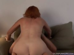 Luscious solid red head Sasha is a squirter