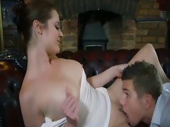 Slutty girl gets caressed and fingered by boy before sex