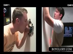Sensual sexual gay eating phallus on gloryhole