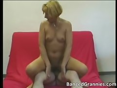 Filthy tempting blonde Mummy gets banged rough