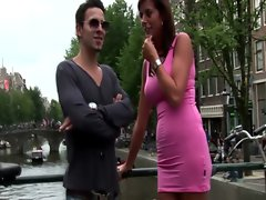 Hottest dark haired euro harlot screwed by her client