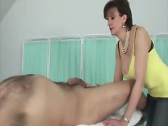 Domina gets her hands on her subjects nude body