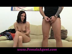 FemaleAgent Guy leaves and she&#039_s all mine