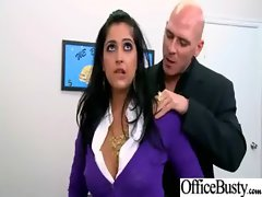 Horny Screwing A Sexual Buxom Attractive Bitch Office Female clip-27
