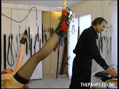 Brutal slavesex punishment of amateur submissive