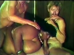 (VINTAGE) BLACK SSBBW Mommy WITH Enormous boobs Banging 2 WHITE MEN!