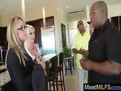 Ebony Strong dick To Please Alluring Top heavy Cougar clip-04