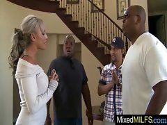 Ebony Stiff pecker To Please Attractive Buxom Mommy clip-21