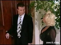Rich Blond American Mum in Stockings banged rough