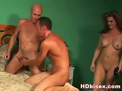 Couple joined by luscious bisexual hunk