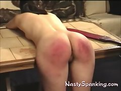 Dirty ass raw and red spanked