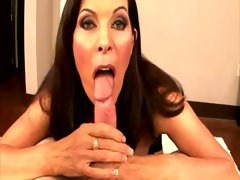 Dark haired filthy seductive mom licking shaft and cant get enough