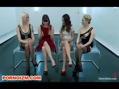 Lezzy Group BDSM Electro Slaves Torments