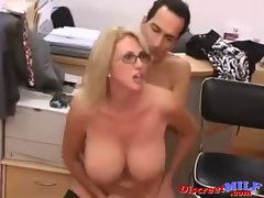 Lush Cougar Banged Wild in the Office