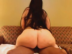 Phat White Butt Receives Shaft
