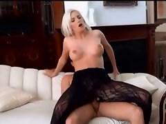 Pretty blond euro Angel gets a facial