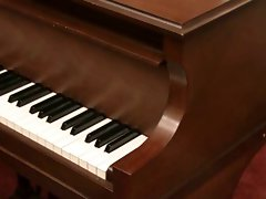 Latin Sassy teen Masturbating on a Piano
