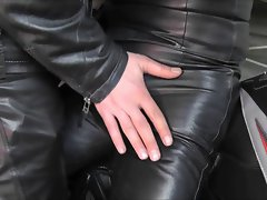 whore leather shemale meet leather man soft