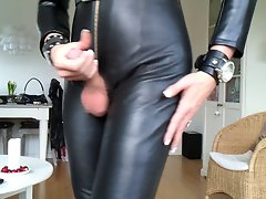 Sissy favorite sensual leather outfit 2
